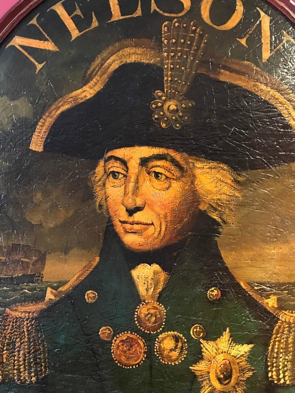 Admiral Lord Nelson Huge Old Pub Sign Portrait
