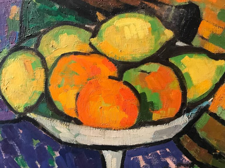 After Paul Cezanne Post Impressionist Still Life Signed Oil Painting At 1stdibs