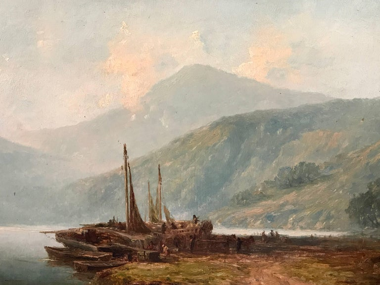 Harry armstrong whittle loch lomond fishing boats 19th for Loch lomond fishing