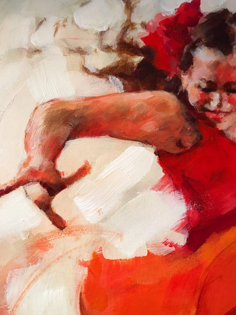 Flamenco Dancers, Large Signed Oil For Sale 2