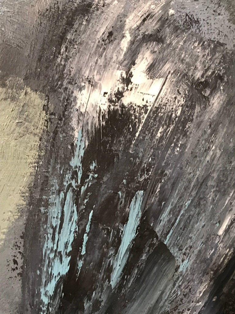 Huge British Abstract Expressionist Oil Painting For Sale 3