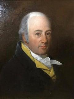Georgian Portrait of Dapper English Gentleman Oil Painting on Canvas