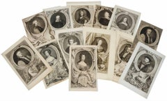 British Aristocrats - Collection of 13 Eighteenth Century Portrait Engravings