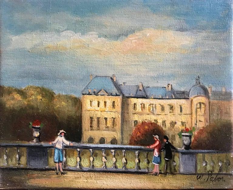 Michel Pabois Figurative Painting - Jardin du Luxembourg, Paris
