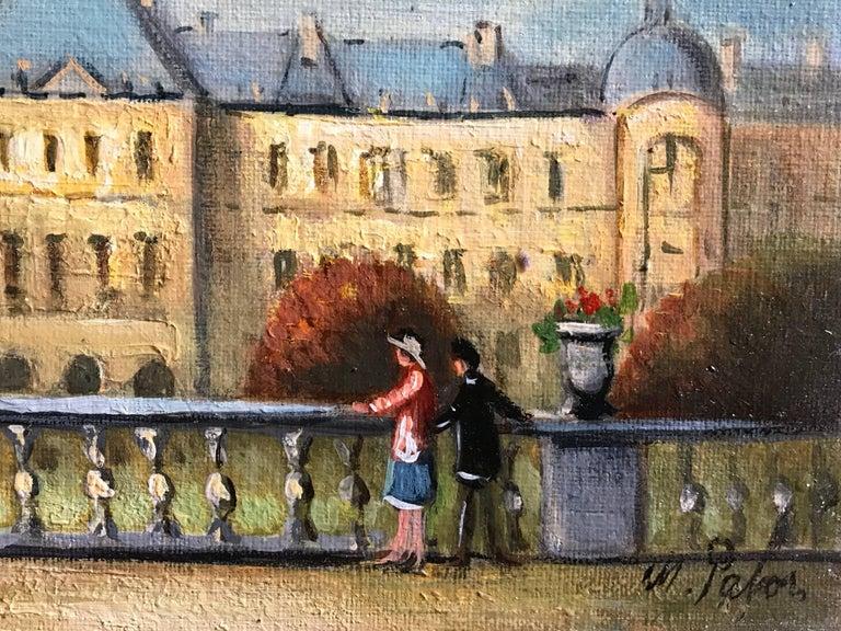 Jardin du Luxembourg, Paris - Impressionist Painting by Michel Pabois