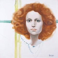 Portrait de Jeune Femme Rousse