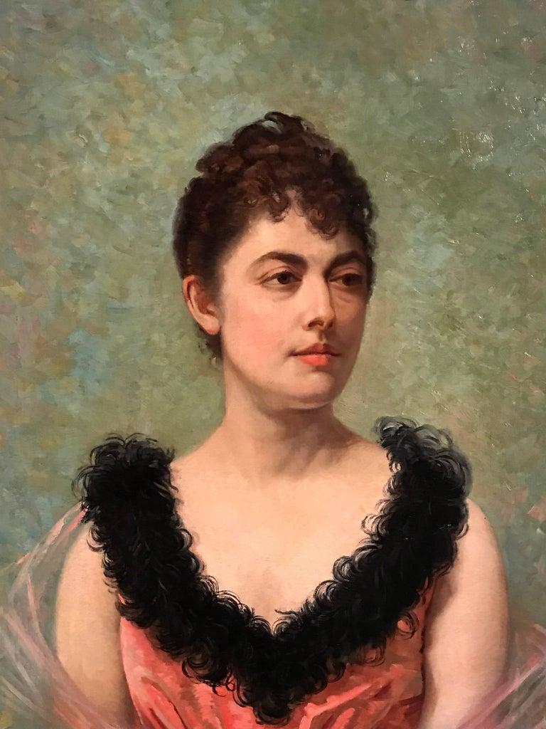 Marie Nicolas Portrait Painting - Belle Epoque French Portrait of Lady