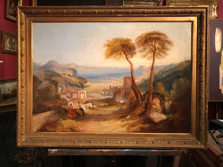 THE BAY OF BAIAE WITH APOLLO AND THE SIBYL  - Painting by Follower of Joseph Mallord William Turner