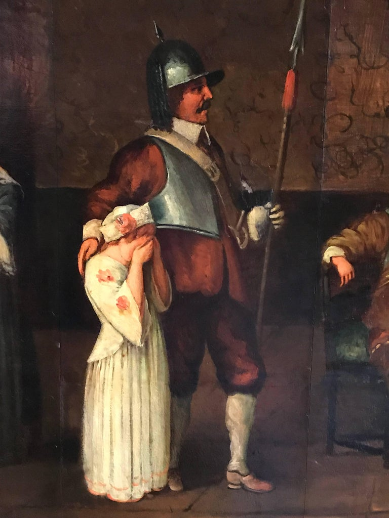 English Civil War Antique Oil Painting 3