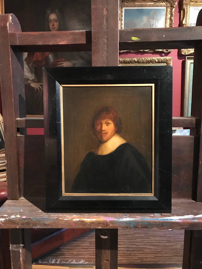Anglo/ Dutch Portrait Painting - The Dutch Gentleman, Fine Antique Oil Painting on Canvas