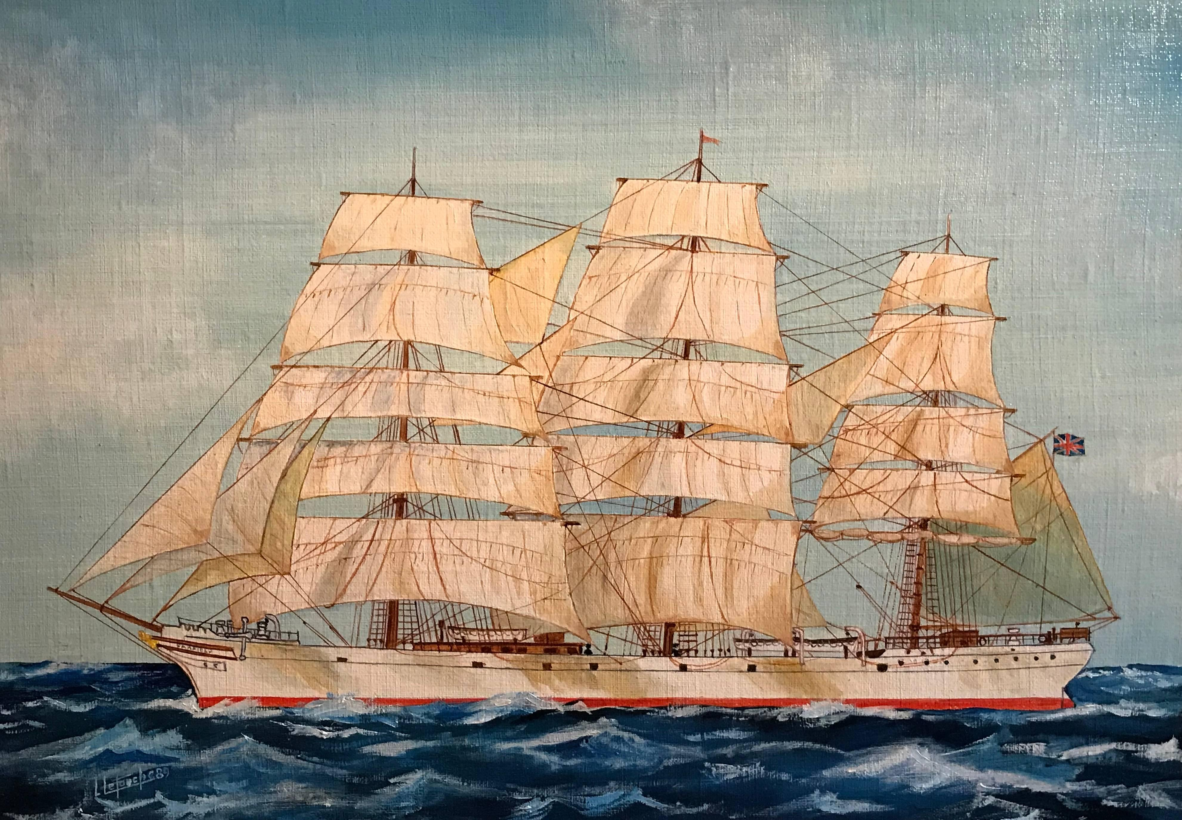 The Garfield, Ship Portrait Maritime Oil Painting