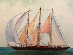 The Creole Yacht 1927, Fine Ship Painting