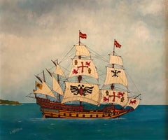 The Spanish Galleon c.1540, fine ship painting.