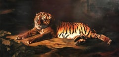 Bengal Tiger, Huge Oil Painting on Canvas