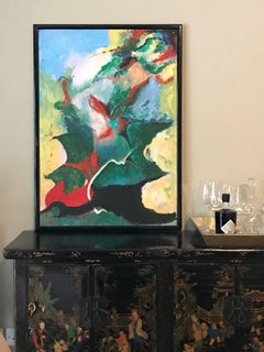 Large French Expressionist Abstract Oil Painting