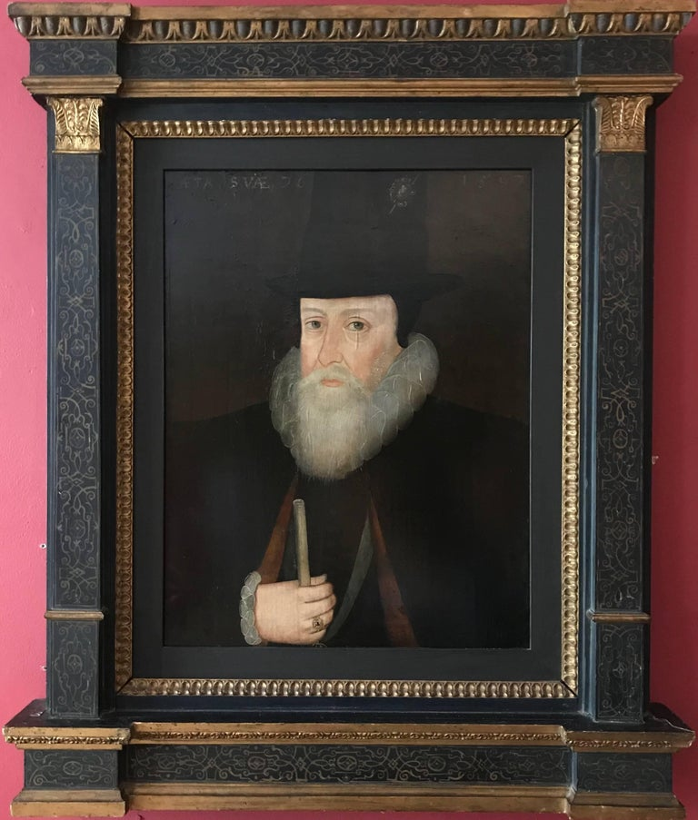 16th Century Portrait of William Cecil, Lord Burghley, original period painting