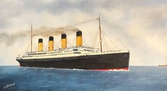 The Titanic, signed oil painting