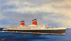 SS United States, signed oil painting