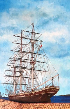 The Cutty Sark, signed oil painting