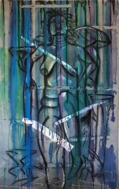 Nude Large British Abstract Painting