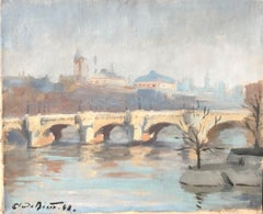 French Cityscape, Signed Oil Painting