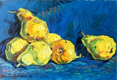 Pears, Still Life Signed Oil Painting
