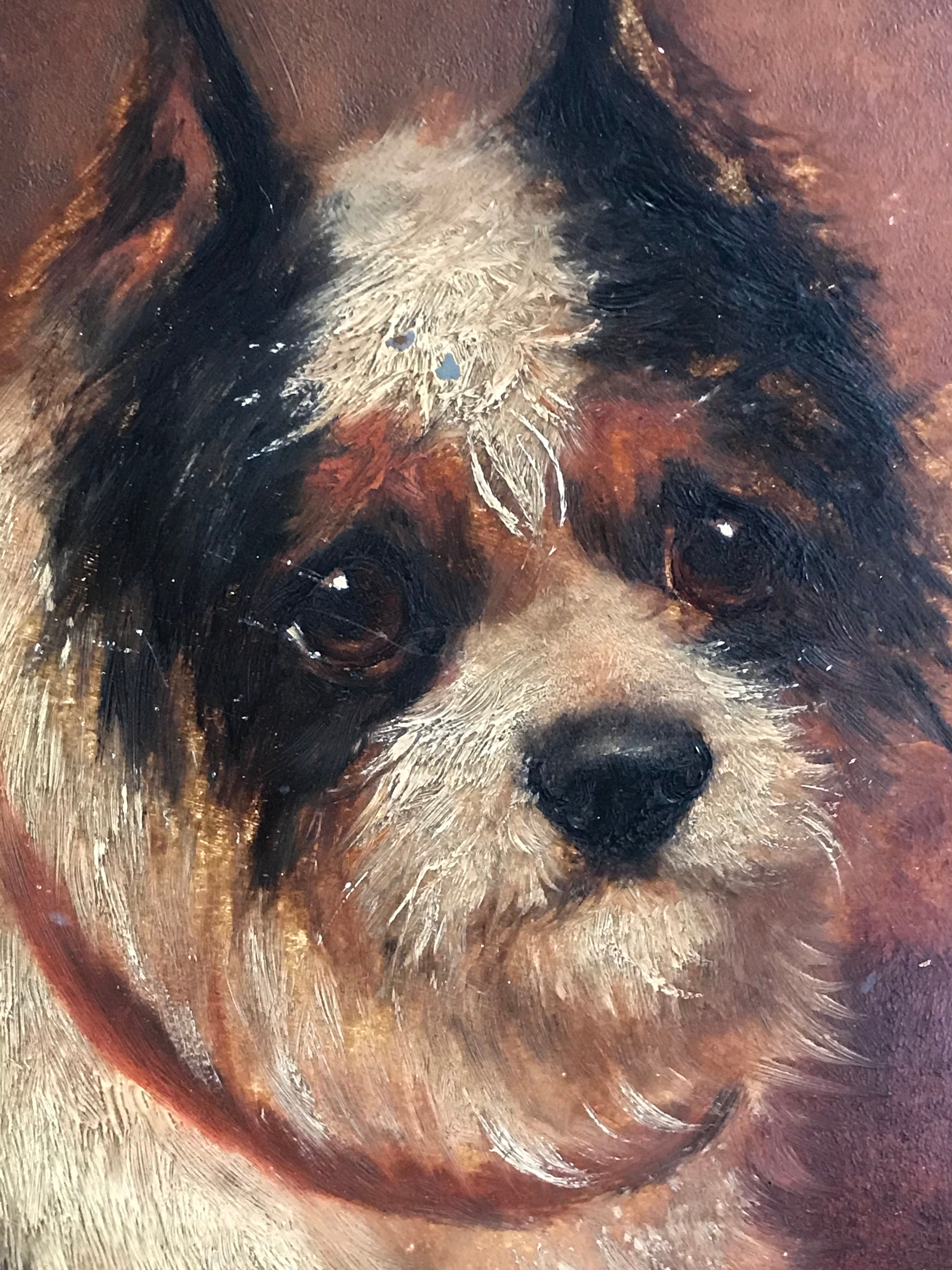 02fb6fa99e27 Unknown - The Terrier Dog, 19th century English Oil Painting at 1stdibs