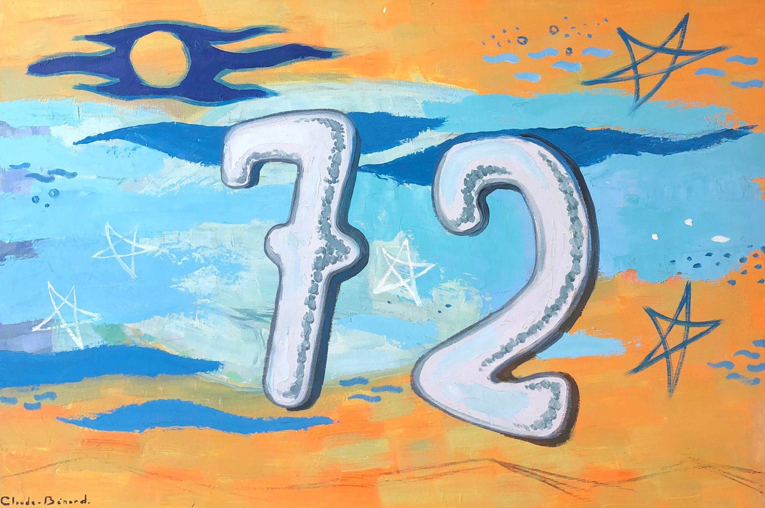 '72', Still Life Signed Oil Painting