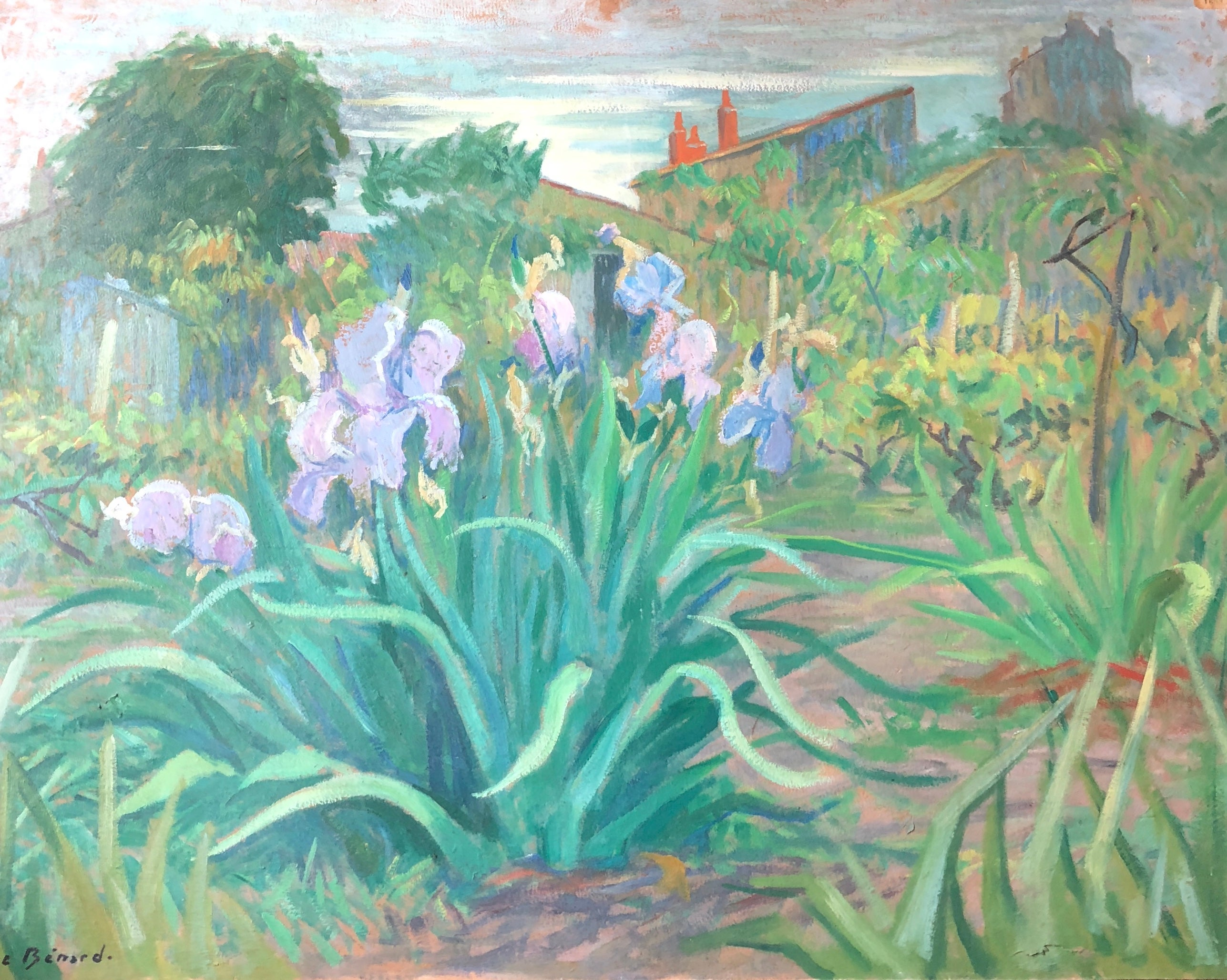 The Vegetable Garden, Still Life Signed Large Oil Painting