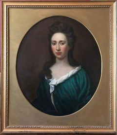 18th Century Portrait of a Lady, Oval Oil Painting on Canvas