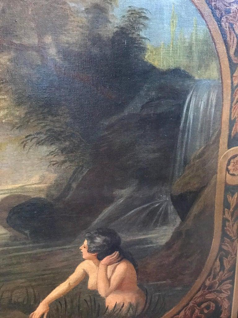 Amphitrite & The Cherubs - Enormous 18th Century Italian Classical Oil Painting For Sale 5