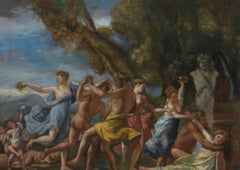 Bacchus before the Term, Large Oil Painting on Canvas by Louvre Copyist