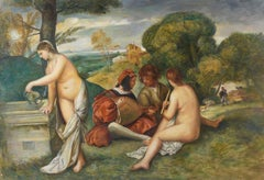 The Country Concert, Large Oil Painting on Canvas by Louvre Copyist