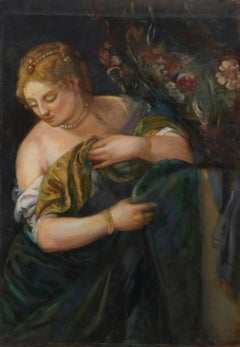 Lucretius, Large Oil Painting on Canvas by Louvre Copyist