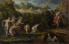 The Abduction of Prosperine, Large Oil Painting on Canvas by Louvre Copyist