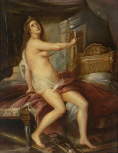 The Death of Didon, Large Oil Painting on Canvas by Louvre Copyist