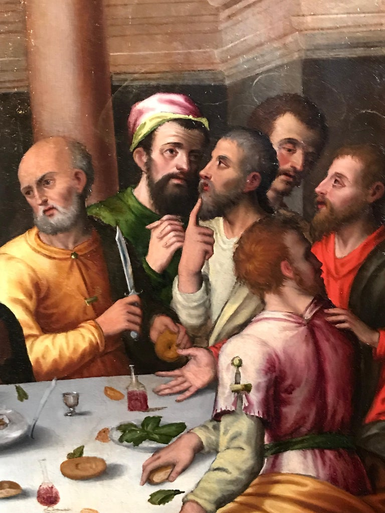 The Last Supper, circa 1500, Important Early Old Master Oil Painting For Sale 3