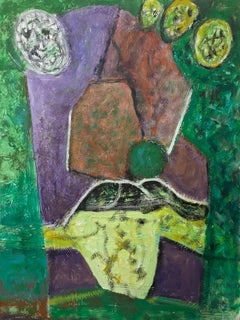 French Expressionist Abstract Original Oil Painting