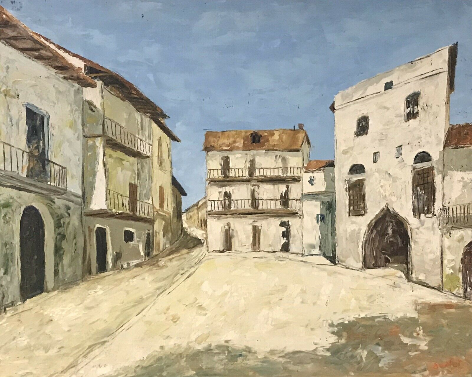 FERNAND AUDET (1923-2016) SIGNED FRENCH POST-IMPRESSIONIST OIL - THE OLD TOWN