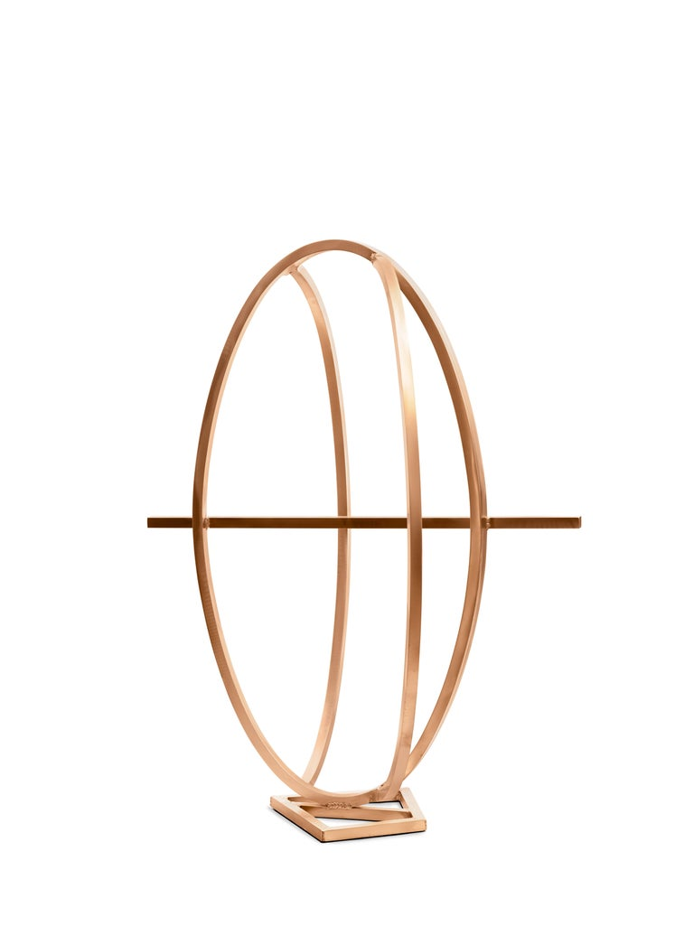 Arthur Carter Abstract Sculpture - An Ellipse Intersected By Two Arcs and A Chord