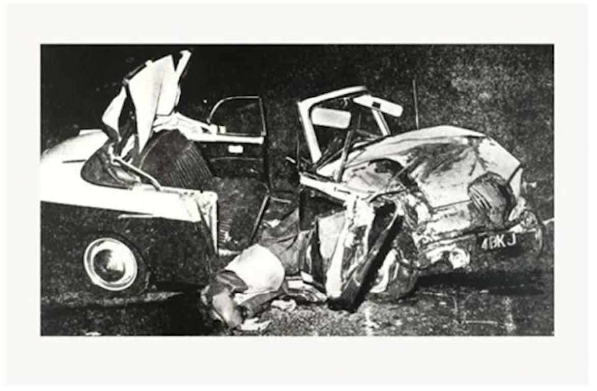 Silver Car Crash Double Disaster Medium