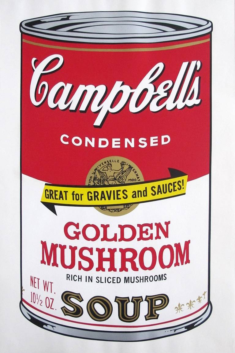 andy warhol golden mushroom from campbell 39 s soup ii print at 1stdibs. Black Bedroom Furniture Sets. Home Design Ideas