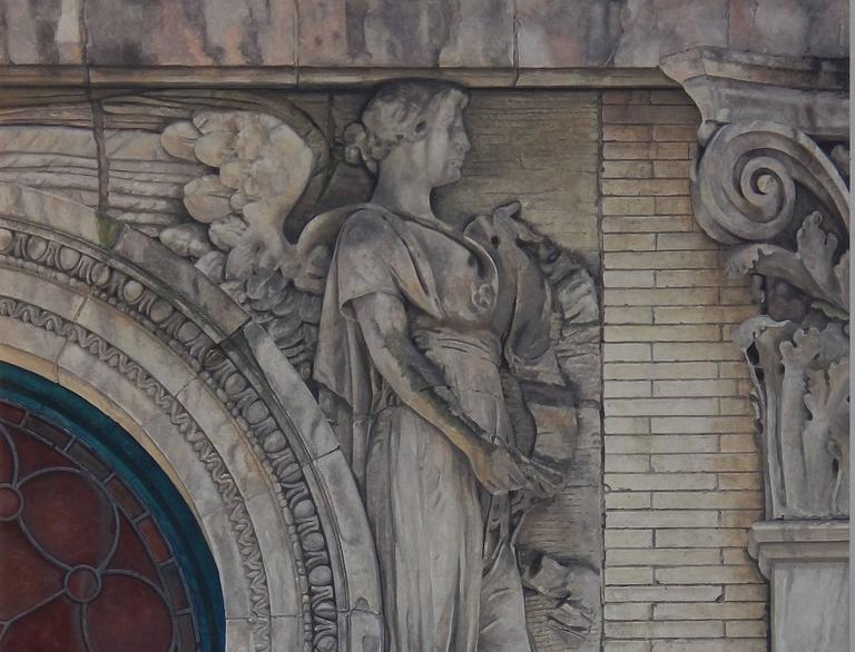 Angel of the Upper West Side, 263 W 86th Street at West End Ave - Painting by Richard Britell