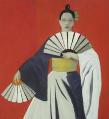 Girl at Red Wall