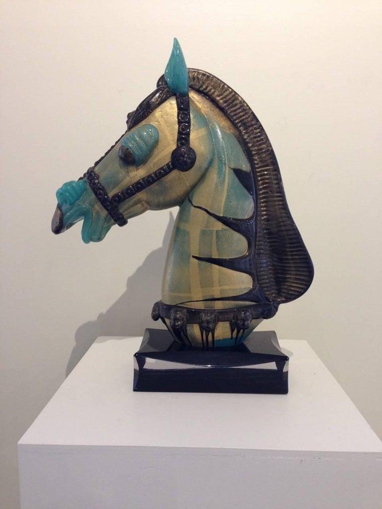 Pino Signoretto Figurative Sculpture - Horse Head Bust