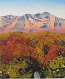 Blue Ridge - Fine Art Landscape Painting - Contemporary -Multicolor Oil on Linen