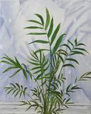 Vessel - Fine Art Still Life Painting - Contemporary - Green and White