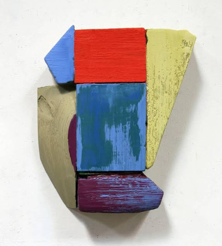 Ned Evans Abstract Sculpture - Wall Relief 3 - Oil Paint and Resin on Wood - Modern Abstract - Multicolored