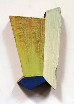 Wall Relief 1 - Oil Paint and Resin on Wood - Modern Abstract - Geometric
