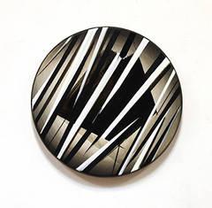 Mandir - Original Black and White Modern Abstract Painting - Mixed Media